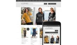 OpenCart  2 Theme Free Clothes Gray