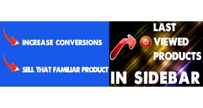 Last Viewed Products in Sidebar  - Last 6 Viewed