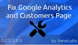 Fix Google Analytics & Customers Page OC-2.2..