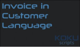 Invoice in Customer Language