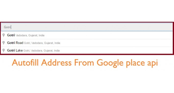Autofill address on registration page