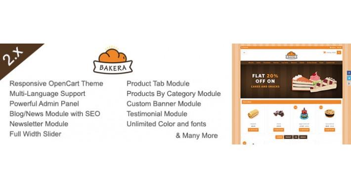 Bakera Responsive Opencart Theme