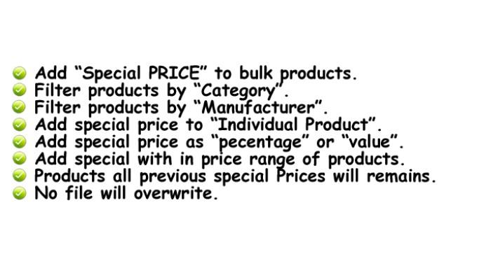 Bulk Special Price