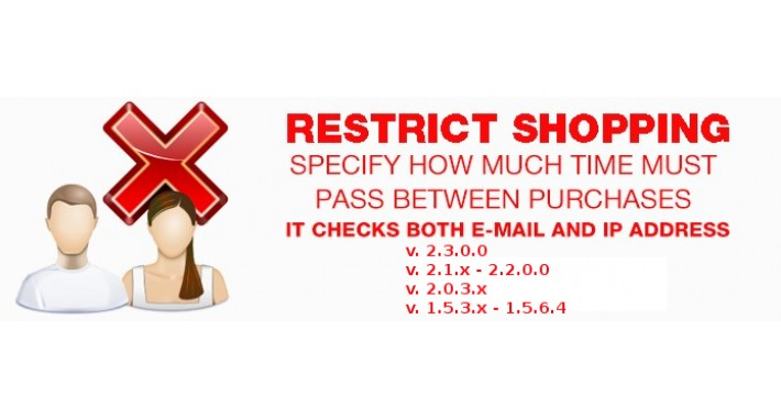 Restrict shopping - interval between buying