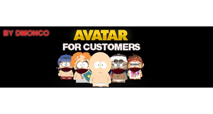 Avatars for customers. Easy upload any image as avatar