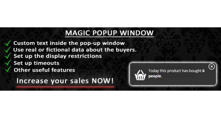 Magic Popup Window (OC 2.x/3.x)