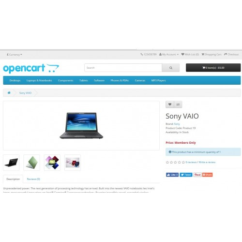 4a1297b27 OpenCart - Login to view Price Members Only Site Remove Add To Cart ...