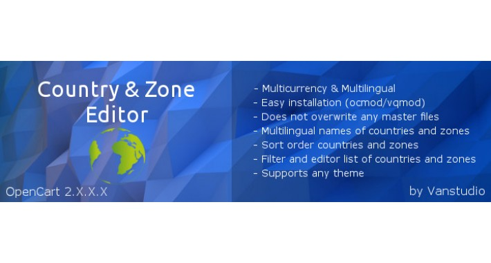 Country & Zone Editor