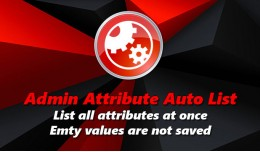 Admin Attribute Auto List