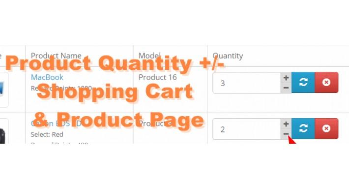 Product Quantity Plus Minus