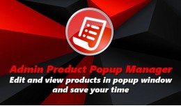 Admin Product Popup Manager