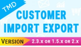 Tmd  Customer import and export  (1.5.x and 2.x )