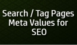 Search and Tag Pages SEO Meta Values