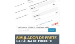Simulador de Frete na Página do Produto