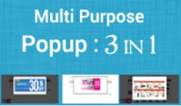Multi Purpose Popup Module : 3 in 1 Pack