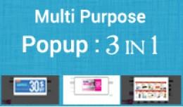 Multi Purpose Popup Module : 3 in 1 Pack