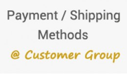 Payment and shipping methods based on customer g..