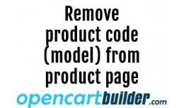 [OCMod] Remove Product Code from Product Page