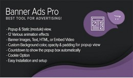 Banner Ads Pro (Regular Popup + Module with Anim..