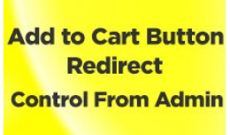Add to Cart Button Redirect - Admin Control Ocmod