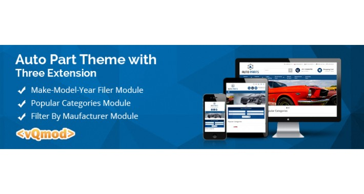 Auto Part Theme with Make Model Year filter extension