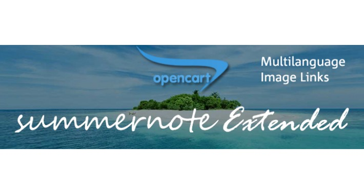 Summernote Extended - Multilanguage and with Image Link