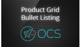 Product Grid Bullet Listing