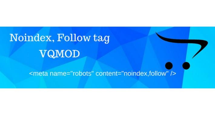 Noindex,Follow tag (VQMOD)