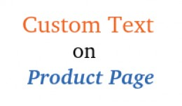 Custom text on product pages : add extra informa..