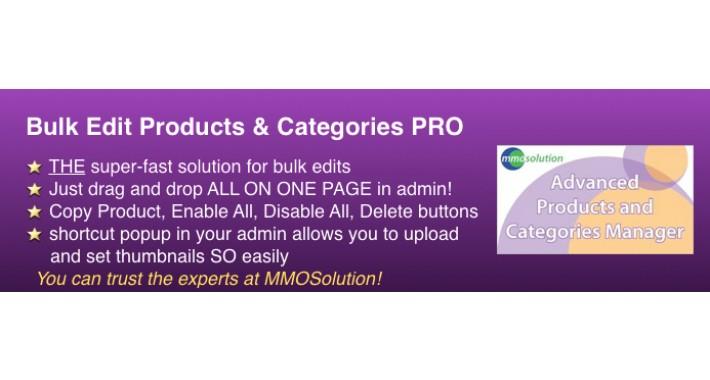 Bulk Edit Products & Categories Tool PRO