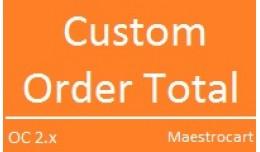 Custom Order Total