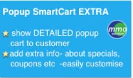 Popup Smart Cart EXTRA -add extra info!
