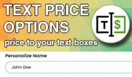Text Price Options