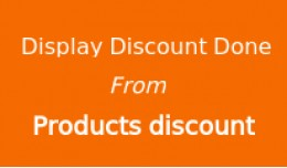 Display total discount done from products discou..