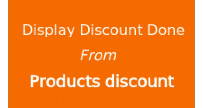 Display total discount done from products discounts