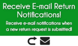 E-MAIL RETURN NOTIFICATIONS FOR OPENCART 2