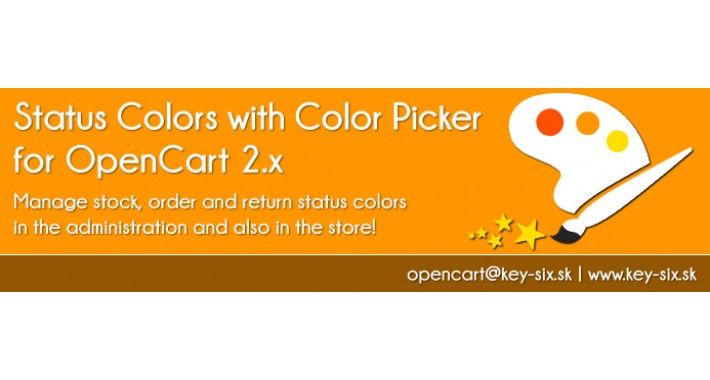STATUS COLORS WITH COLOR PICKER FOR OPENCART 2