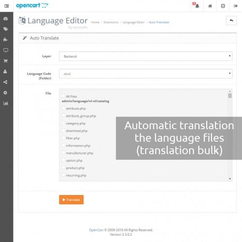 Opencart language editor C language online editor