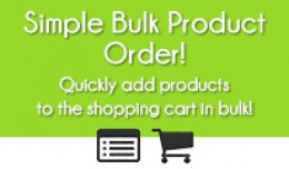 BULK PRODUCT ORDER FOR OPENCART 2