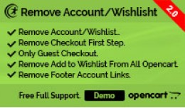 Remove Account/Wishtlist (Only Guest Checkout) V..