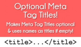 OPTIONAL META TAG TITLES FOR OPENCART 2