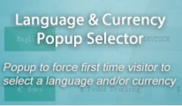 Language and Currency Popup Modal Selector