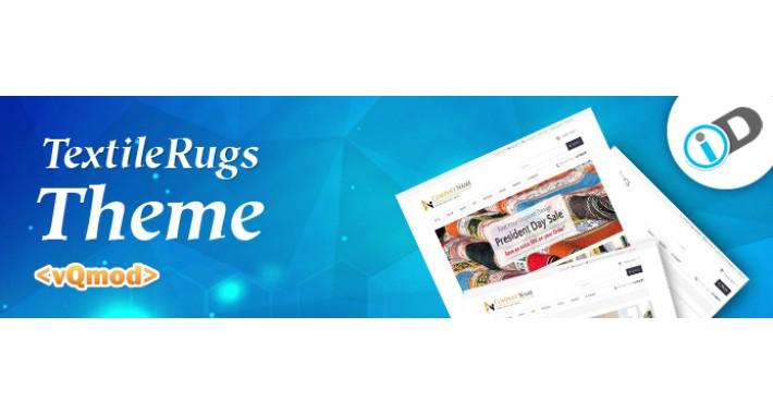 Responsive Clean TextileRugs Opencart Template