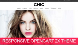 Chic fashion responsive opencart 2.X theme