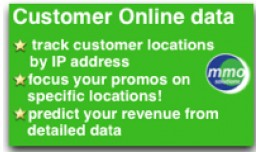 Customer Online data  (track country based on IP)