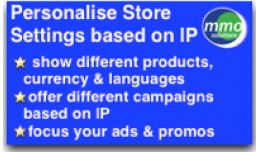 Personalise store by IP. Target campaigns by loc..