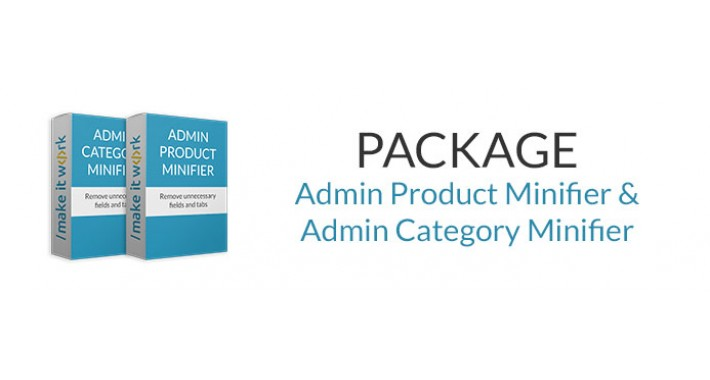 MINIFIER PACKAGE: Hide Admin Product And Category fields