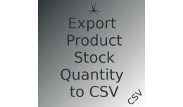 Opencart Product Stock Quantity Export