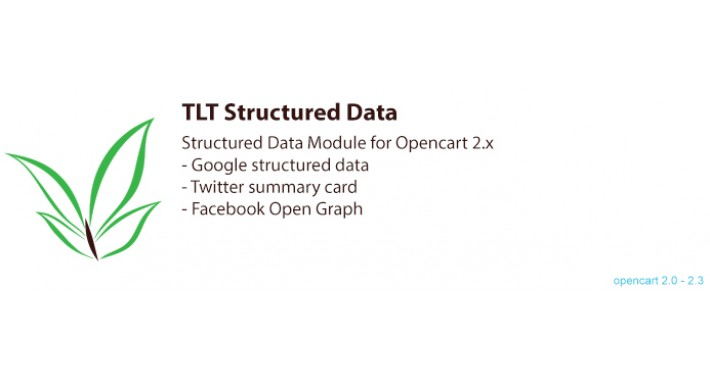 TLT Structured Data Module for Opencart