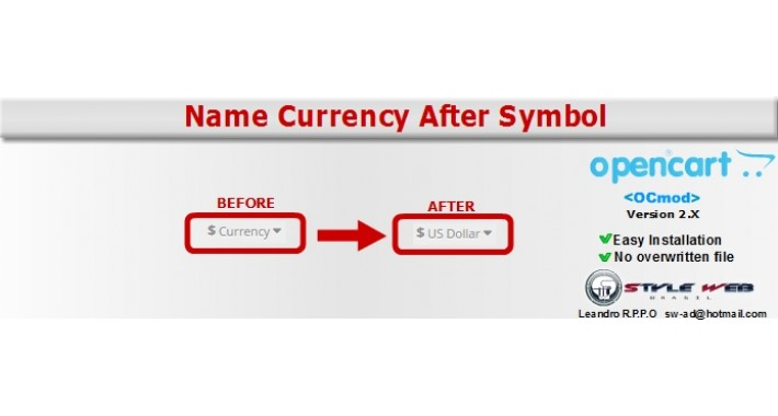 Name Currency After Symbol